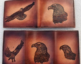 leather eagle wallet
