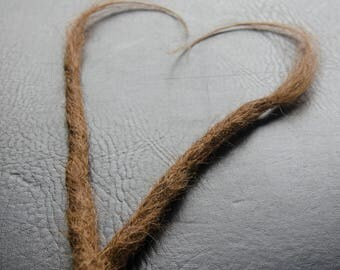 Human Hair Dreadlock Choose Quantity Real Ethical Raw Dread Extensions / Clip on. Light Brown.