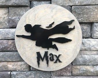 Harry Potter Custom Name Sign - 3D Sign - Custom Playroom Decor - Wooden Cutout - Nursery Decor - Raised Letters