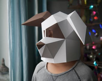 Doggy Low Poly Mask Download PDF