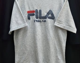 """Vintage FILA T-shirt Big Logo Spellout Embroidered//Size L"""""""