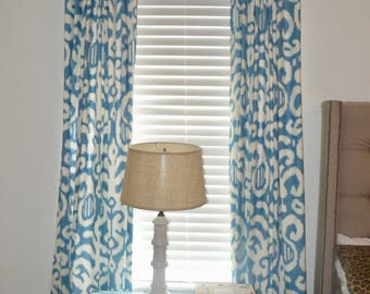 Pair Custom Lined Curtains, Your Fabric