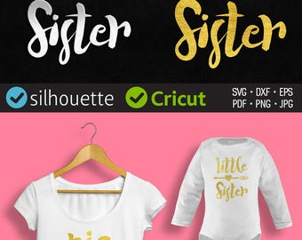 Big Sister SVG Sister Svg Big Sis Svg Big Sister Cut File Sibling Svg PNG Svg Files For Silhouette Cameo Svg Files For Cricut Sister Svg Sis