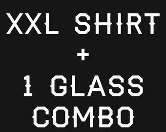 1 2XL shirt + 1 glass CatsOnTap #beercat combo
