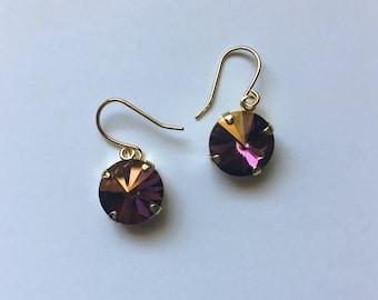Handmade Earrings - Made with Swarovski Crystal (Tropical Pink)