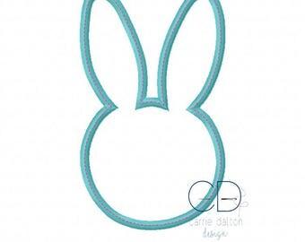 Easter Embroidery Designs, Bunny Applique Design, Easter Bunny Applique