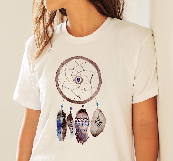 Dreamcatcher Feathers | Unisex T-shirt | Apparel | Women / Men Clothing | Personalized T-shirt | Graphic Tee | Native Art Tee  | ZuskaArt