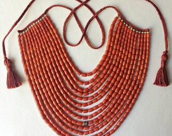Red Coral Necklace Antique Coral Ukrainian Necklace Natural Coral Necklace Ethnic Antique Jewelry Coral Bead Necklace Collares Etnicos 04