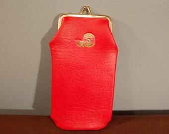 Vintage 80's-90's Red Leather Cigarette Pack Case