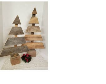 Rustic Trees Wood Christmas Trees Farmhouse Wooden Holiday Decor Wood Table  Top Tree