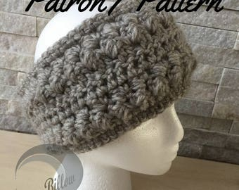 Crochet Pattern: Adult and child Billow Headband