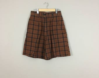 90's Plaid Shorts