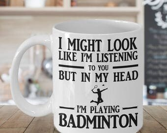 Badminton mug, Badminton gift, 11oz coffee mug for badminton players, Badminton player gift