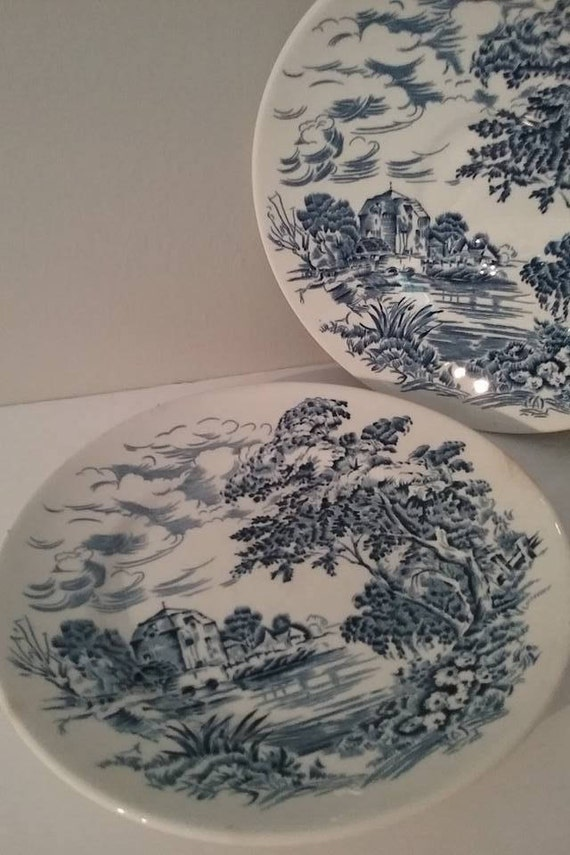Countryside Wedgwood Saucer and Plate, #VintageWedgwood, Enoch Wedgwood Tunstall Ltd, Countryside Wedgwood Replacements, #buyVintage4xmas