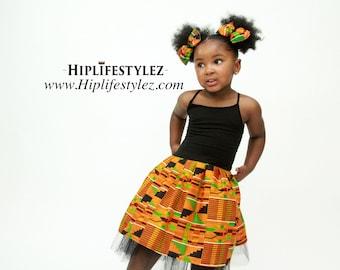 Kente African Print Tutu Dress