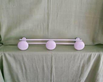 Retro Hook Racks, Coat Hook Rail, White Coat Rack, Wall Mounted, Coat Rail, 3 Knob Hanging Rack, Vintage Metal Coat Rack