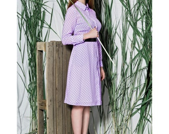 Modest dress women - Modest dress - Lilac dress for women - Summer dress midi - Cotton dress midi - Casual midi dress - Midi cotton dress