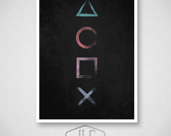 Playstation Inspired Video Game Poster