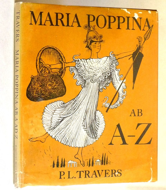 Maria Poppina ab a ad z 1968 P.L. Travers - 1st Edition Hardcover HC w/ Dust Jacket DJ - Latin Language Abecedarian