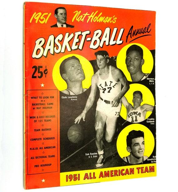 Nat Holman's 1951 Basket-Ball (Basketball) Annual Volume 1, No. 1 College All American Team NCAA NC State Sam Ranzino