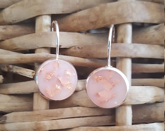 Rose gold plated leverback earrings