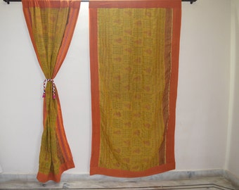 GIFT Indian quilt Hippy curtain Cotton Indian curtain Boho curtain gypsy curtain partition room divider recycled vintage BohemiancurtainQC35