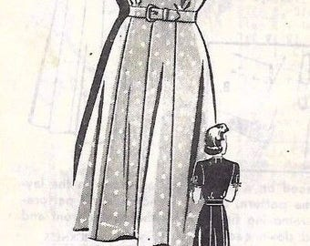 Vintage 1940's Sewing Pattern WWII WW2 Wartime Yoked Dress 'Marian Martin' Bust 42""