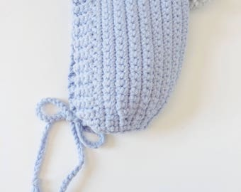 Baby Bonnet in Baby Blue