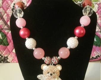 Valentine's Chunky Beads, Bubblegum Beads, Toddler necklace