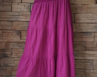 Cotton skirt ,purple Indian light weight cotton skirt