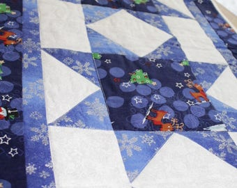 Rudy's Blue Christmas Table Runner