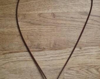 Blue double necklace