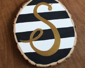 Monogram Stripped Woodslice