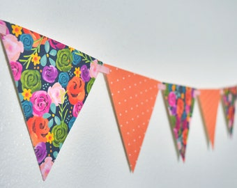 Bright Floral Bunting