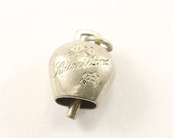 Vintage Cowbell Pendant Silver PD 2312