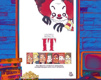 """Illustrated Stephen King """"Must have"""" movie poster"""