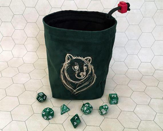 Sketchwork Bear Embroidered Large Gaming Bag