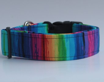 Paint Collection : Vertical Stripes Dog Collar