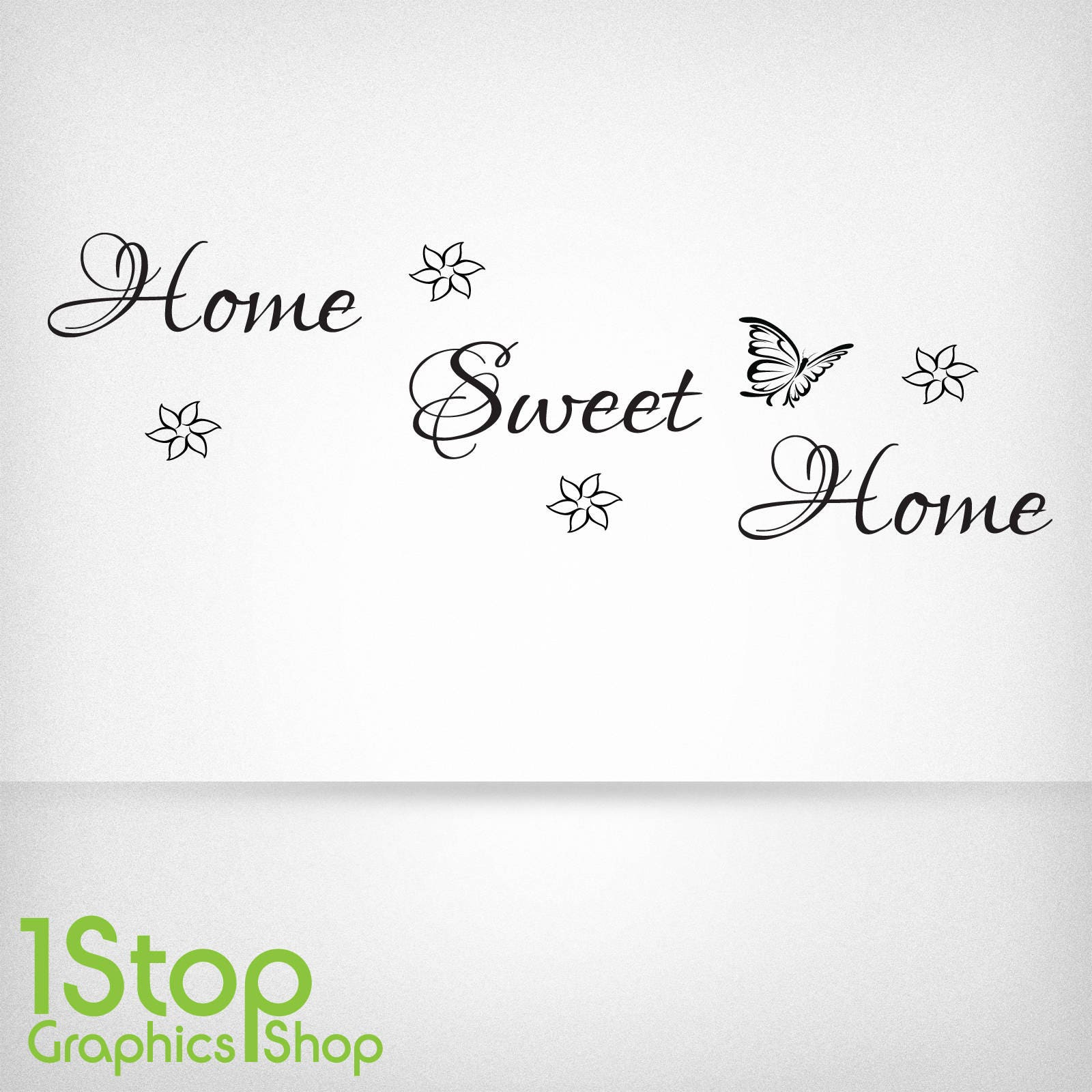 Home Sweet Home Wall Sticker Quote Bedroom Lounge Wall Art Decal X97