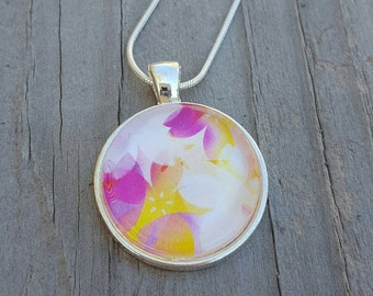 Flower Petal Necklace, Silver Jewelry, Spring Fashion, Summer Fashion, Unique Jewelry, Flower Jewelry, Gift Idea For Her