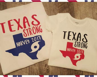 Texas Strong Preemie Thru Adult XXXL - All Proceeds Go To Victims Of Hurricane Harvey - Lets Help Our  USA Neighbors!
