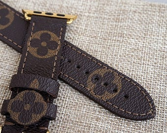 Apple watch strap, lv strap, Apple watch band,, louis vuitton straps, handmade apple watch band, apple watch lv band, gift watch band