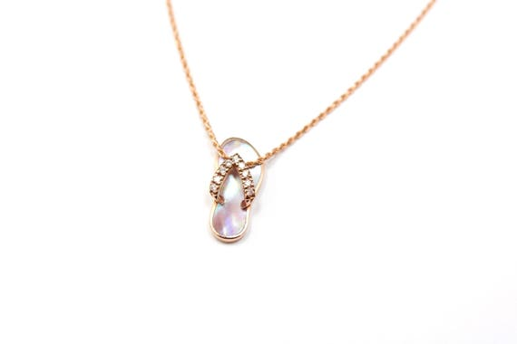 14k rose gold na hoku flip flop pendant rose gold hawaiian like this item mozeypictures Choice Image