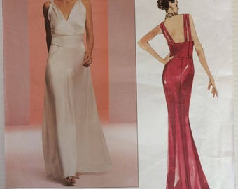 Vogue Couture Design sewing pattern 2707 - Misses' floor length dress size 12-14-16