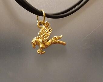 Gold Pegasus pendant necklace