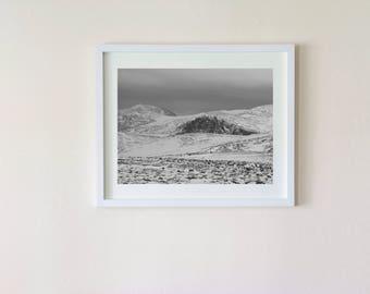 Photograph - Snowy mountain