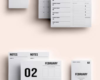 Personal TN Insert | Personal TN Printable | Personal TN Printable Inserts | Personal Daily Insert February 2018