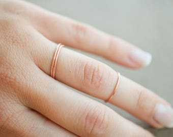 1 mm copper stacking ring, stackable ring, copper ring, knuckle ring, little finger ring