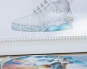"Print of my illustration of ""Nike Air Mag"", from ""Back to the future 2"""