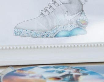 """Print of my illustration of """"Nike Air Mag"""", from """"Back to the future 2"""""""